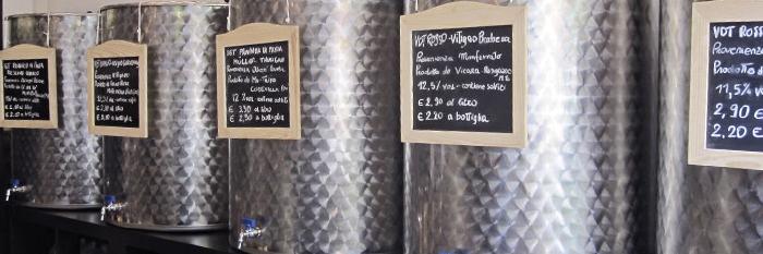 vini sfusi - La bottega del vinaiolo